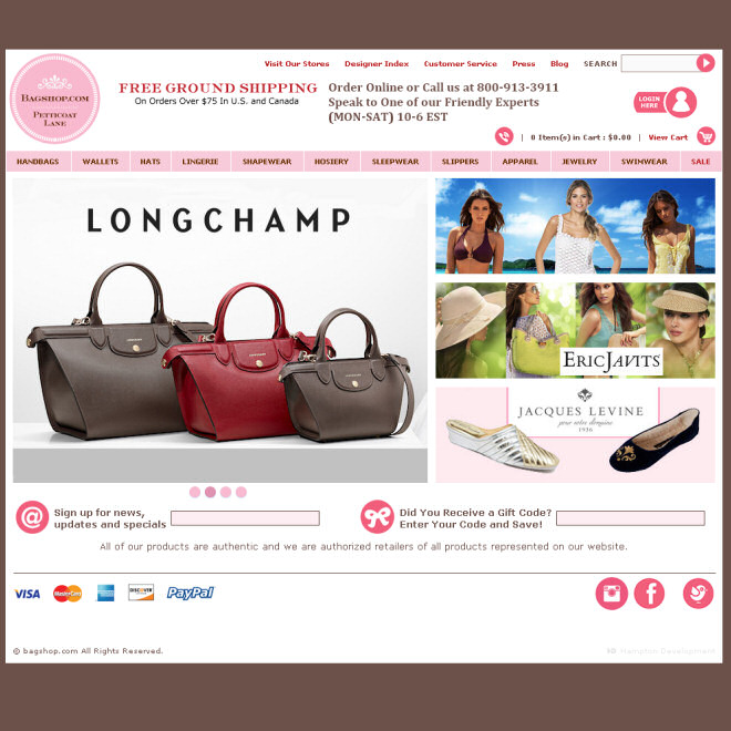 Bagshop.com Women's Lingerie, Handbags and Apparel