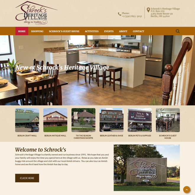 Schrock's Heritage Village is a family owned and run business since 1991.