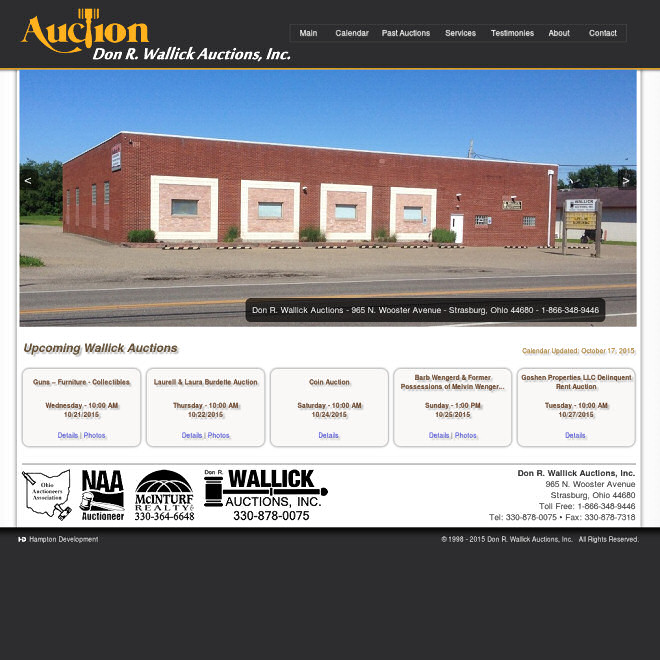 Wallick Auctions, Serving the Tuscarawas Ohio Valley with only the best in auction services. Real Estate, Antiques, Farm, Estates and Liquidations.